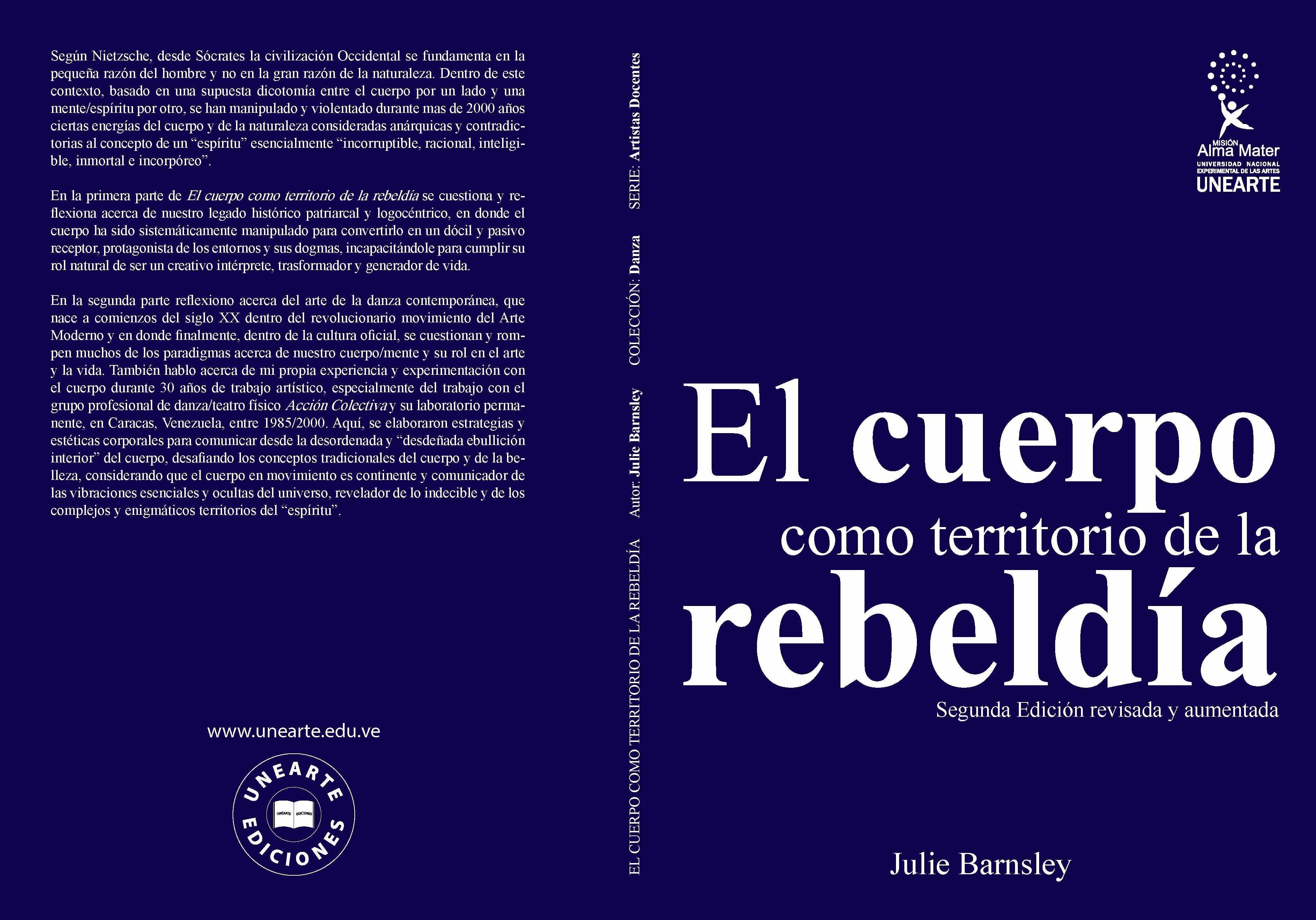 PORTADA 8 DE EL CUERPO COMO TERRITORIO DE LA REBELDÍA (B) (SEGUNDA EDICIÓN)